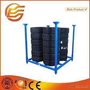 Stacking Warehouse Storage Steel Pallet Tire Rack