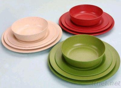 Non Pollution And Toxic, Real Eco-Friendly Biodegradable Tableware Set