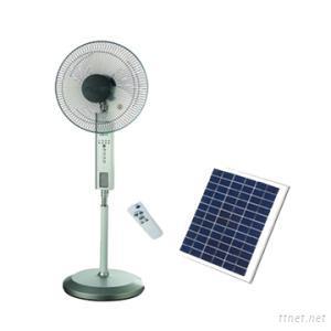 16 Inch Solar Fan Stand Oscillating Rechargeable Fan