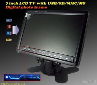 7 inch TFT LCD TV