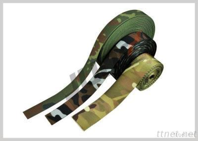 Military Camouflage Webbing, Military Camo Tubular Webbing