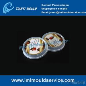 Ice Cream Cover Mold With IML, IML Ice Cream Lid Mould, Plastic Ice Cream Lid Molding