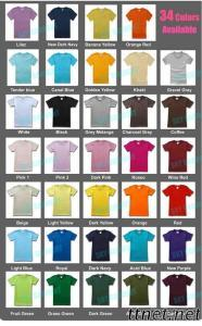 220GSM 34Colors Quality Wholesale Plain Tee Shirts