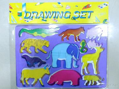 Kids Children Drawing Animal Stencil Toys