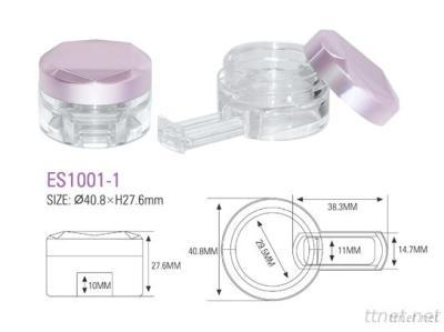 Empty Plastic Compact Powder Case Packaging