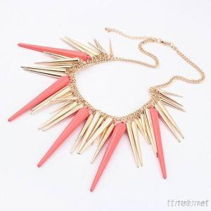 Exaggerated Street Punk Tassel Fashion Tapered Necklace
