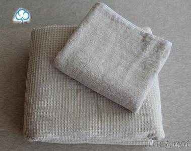 100% Cotton Dyed Yarn Waffle Compress Towel