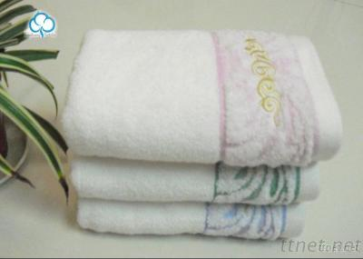 100% Velour Embroidered Cotton Towel