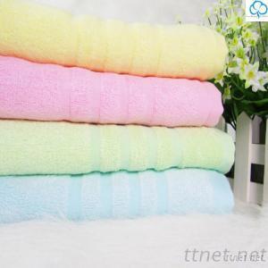 100% Eco-friendly Bamboo Fiberic Bath Towel with plain color