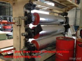 Machine en plastique d'extrusion de rouleaux du plat trois