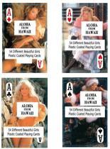 Обнажённые женские играя карточки - Гавайи