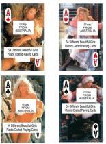 Обнажённые женские играя карточки - Австралия
