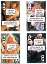 Tarjetas que juegan femeninas desnudas - Escocia