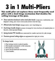 3 In 1 Pliers Set