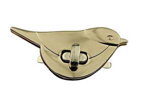 Shoulder Bag Purse DIY Accessories Metal Vintage Retro Bird Shape Clasp Turn Lock Twist Locks