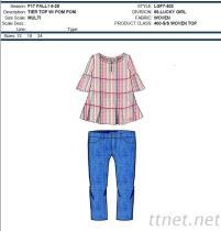 100% de Geweven Bovenkant & Broek van Jeans