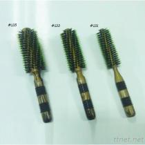 #131 Professional Hair Brush, Wooden Handle Hair Brush, Hair Salon Brush