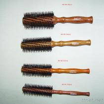 PB-160 Professional Hair Brush-Nylon Pin With Bristle Pin, Hair Salon Brush, Wooden Handle Hair Brush