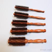 PB-160 Professional Hair Brush-Nylon Pin With Bristle Pin, Hair Salon Brush, Wooden Handle Hair Brush