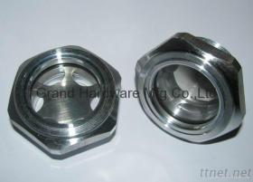 """G1-1/4"""" Aluminum oil level sight glass"""