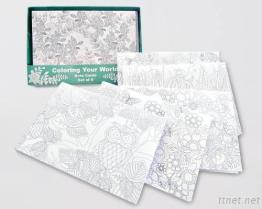 Coloring Note Cards (Set of 6)