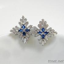 Tapered Baguette CZ earrings