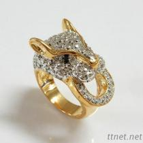 Leopard Two Tone Ring