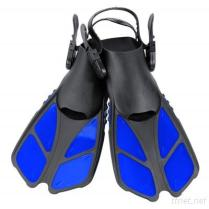 Snorkel Fins, Swim Fins Travel Size Short Adjustable for Snorkeling Diving Adult Men Womens Kids Scuba Open Heel Swimming Flippers