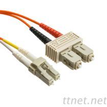 Fiber Optic SC Duplex Cable, Connector