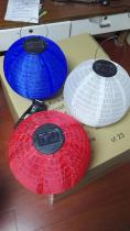 Supply Fabric Lanterns With Solar Panel For Outdoor Decoration