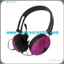 Crystal Rhinestone Stereo Headphones