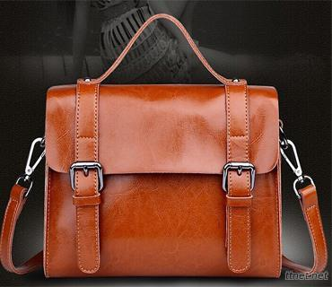 Leather Messenger Bag  (L4025)