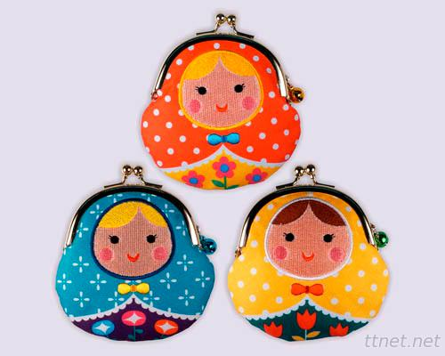 Russian Doll Purses, Sublimation & Embroidery Coin Purses