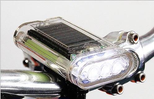 Lumière blanche actionnée solaire de bicyclette de LED
