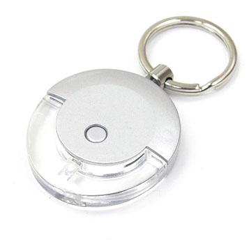 ライト及びフラッシュ白いLED Keychain