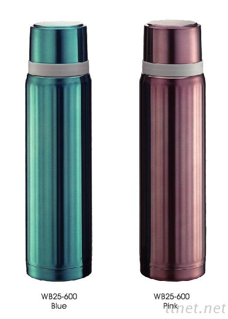 Stainless Steel Vacuum Flask Blue, Pink, 600ml