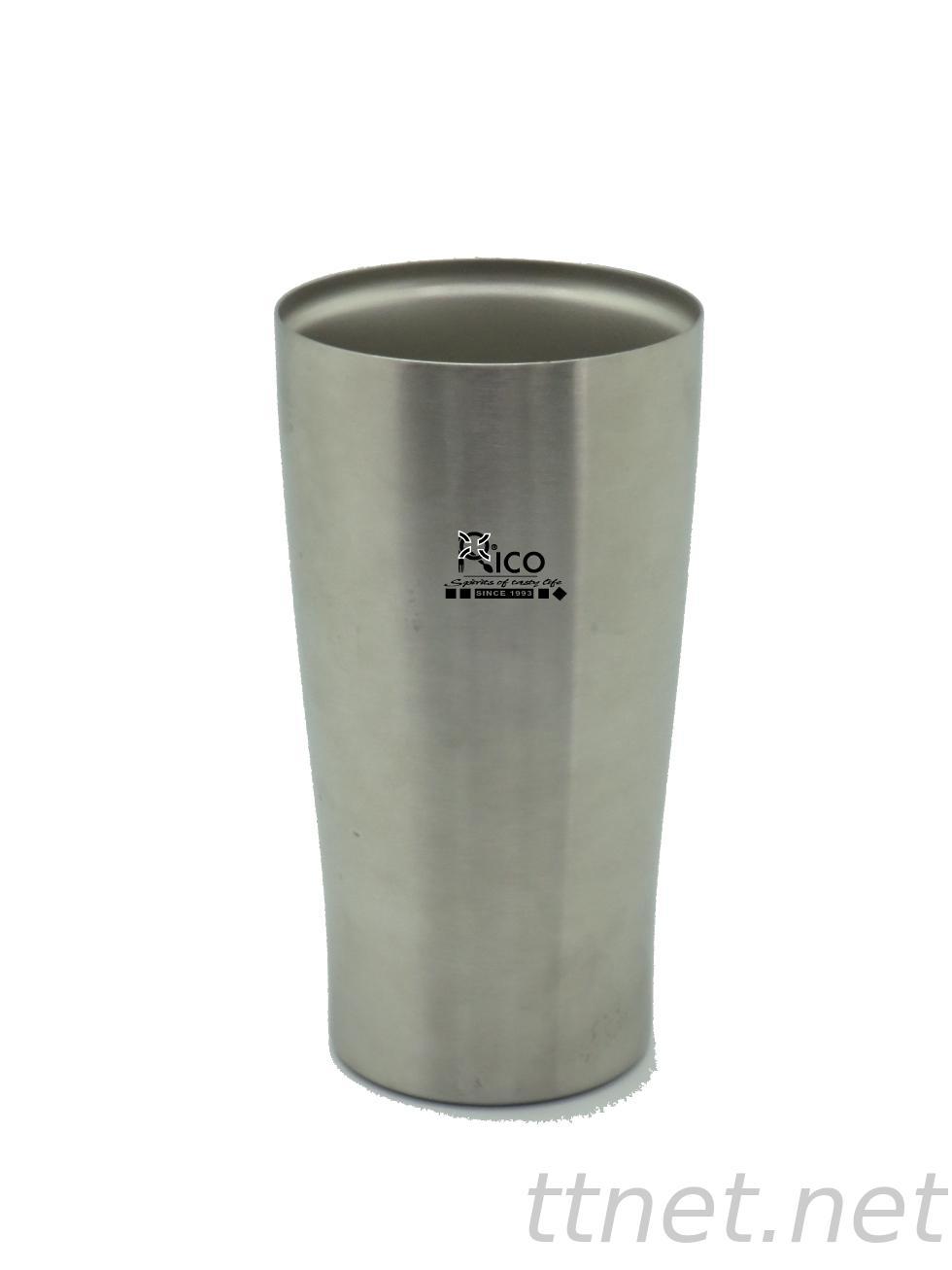 Durable Stainless Steel Vacuum Mug Silver 450Ml