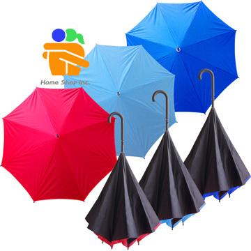 不湿身双层反向伞 手开长伞 雨伞 速收水图片