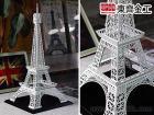 巴黎鐵塔擺飾, 優雅白 客製模型案例 歐洲學校