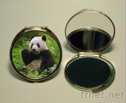 金屬化妝圓鏡