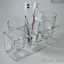 廠家專業生產定制亞克力杯架, 有機玻璃洗漱用品陳列架