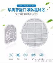 华奥智能口罩滤芯 PM2.5雾霾过滤网 初效层HEPA活性炭三合一滤网