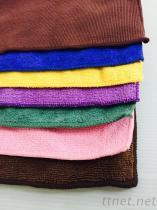 彩色超细纤维抹布、擦车布、洗车布