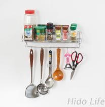 不鏽鋼無痕掛勾 廚房、衛浴瓶罐置物架+6小勾
