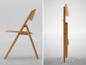 木製傢俱-折疊椅