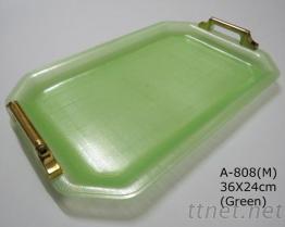 鍍金把手托盤 A-808-綠