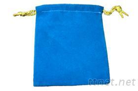 绒布袋-蓝