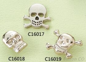 鋅合金釦板: 骷髏頭造型
