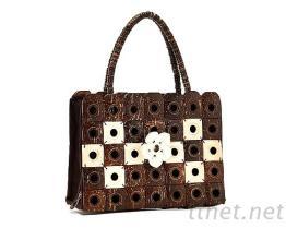 工藝材料-椰子扣皮包