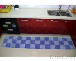 超吸水又容易清洗厨房踏垫.PO方格长条